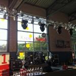 Bühnenaufbau Halle